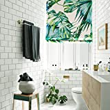 "KARUILU home Quick Fix Washable Roman Window Shades Flat Fold , Custom any width from 14"" to 70"" , Tropical Plant (27W x 63H, Palm Cove A)"