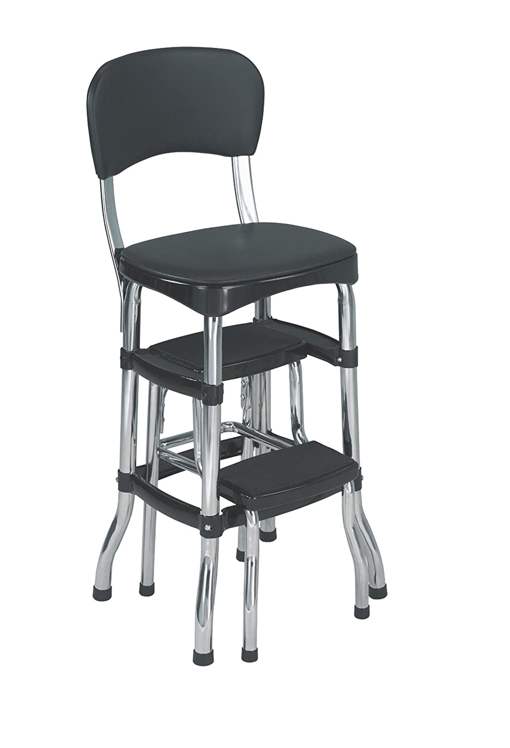 Amazon.com Cosco Black Retro Counter Chair / Step Stool Black Home Improvement  sc 1 st  Amazon.com : metal step stool chair - islam-shia.org