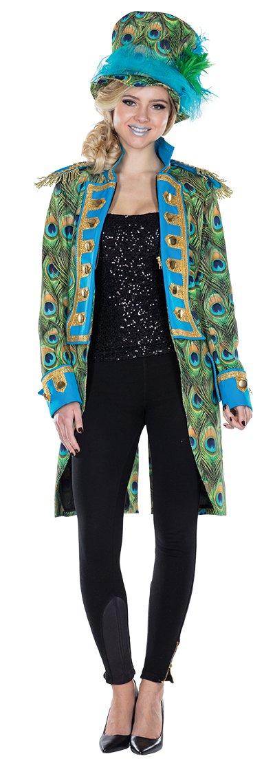 Mottoland GmbH Disfraz de Pavo Real para señoras, Chaqueta de ...