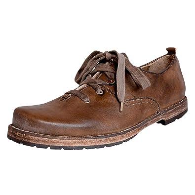24046dc7e82c06 Haferlschuh aus Hirschleder in Braun von Dirndl + Bua, Schuhgröße:47;Farbe: