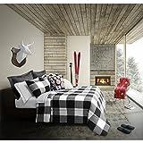 Black and White King Comforter Set Safdie & Co. Luxury Set Comforter, King, White/Black 3