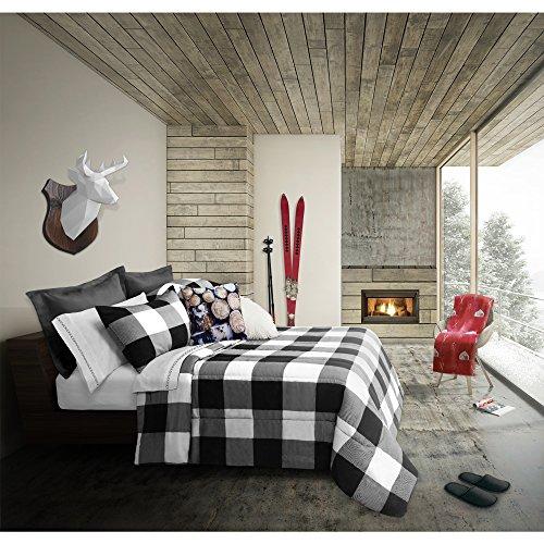 Safdie & Co. Collection Buffalo 3 Piece Comforter Set, Full/Queen
