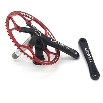 LP AL6061 53T bicicleta plegable Bielas (platos Fit bya412 P8 SP18 bicicleta partes con al