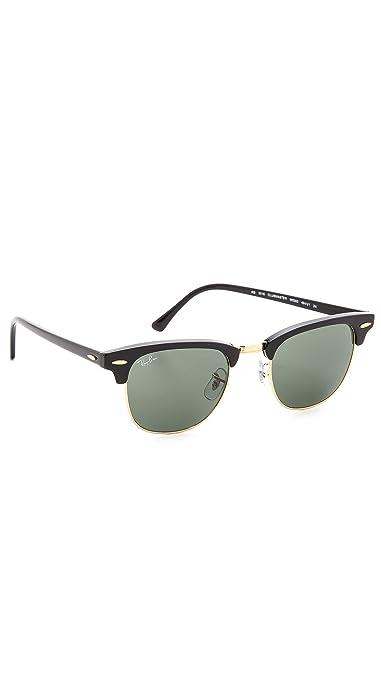 aa1025a4de Amazon.com  Ray-Ban Clubmaster Sunglasses - Ebony Arista   G-15 XLT ...