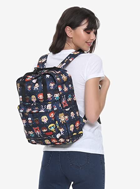 Amazon com: Stranger Things Chibi Character Print Backpack