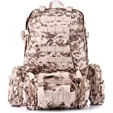 PandaGearX® 50L Molle 3 Day Assault Tactical Outdoor Military Rucksacks Backpack Camping Bag
