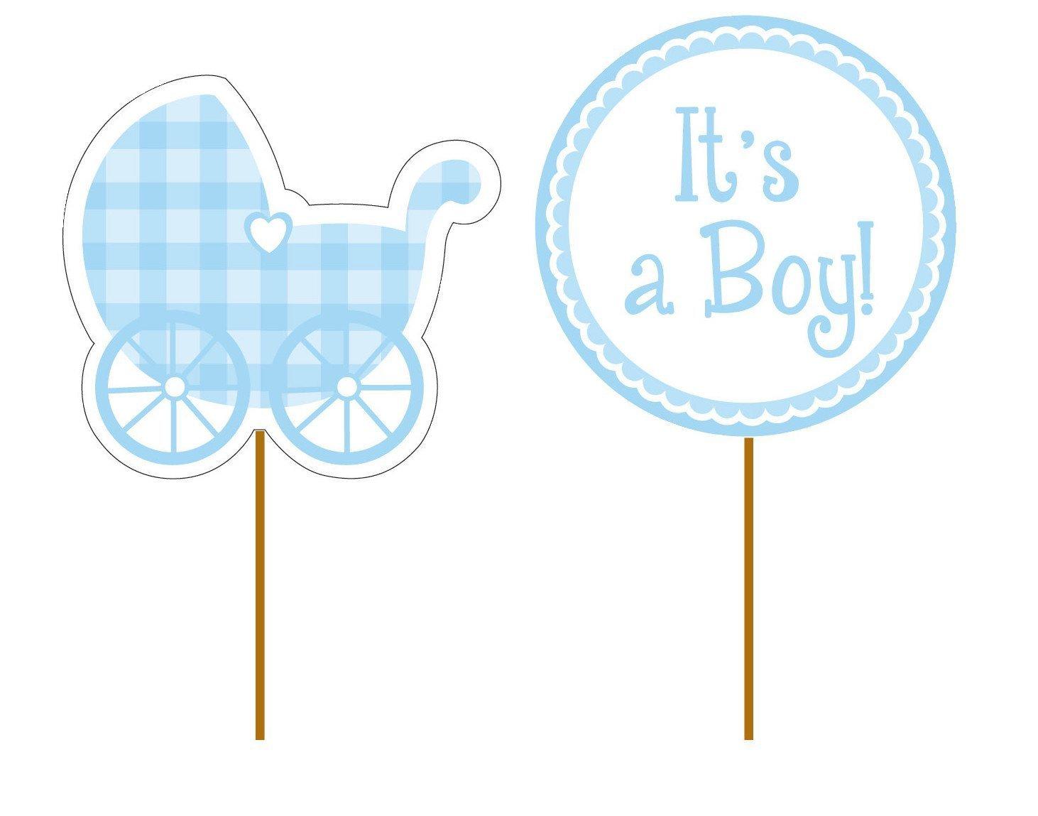 Reegen 12 De Cupcake Toppers * Baby Boy * para el Primer cumpleaños o la decoración Nacimiento//Muffin piekser Cumpleaños Infantil Niño nachwuchs Infantil: ...