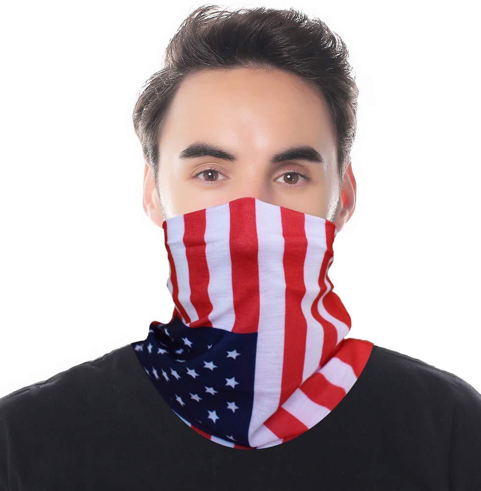American Flag Headwearバンダナヘッドバンド – ラップスカーフUV万能フェイスマスク軽量スポーツ&カジュアルアウトドア登山キャンプハイキング  11 B0771P1QNT