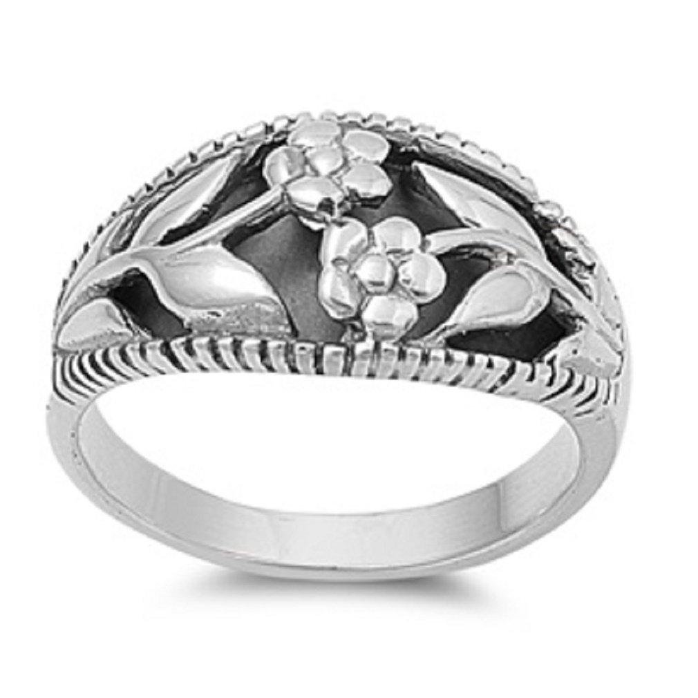 Sterling Silver Bali Ring PR150807-15