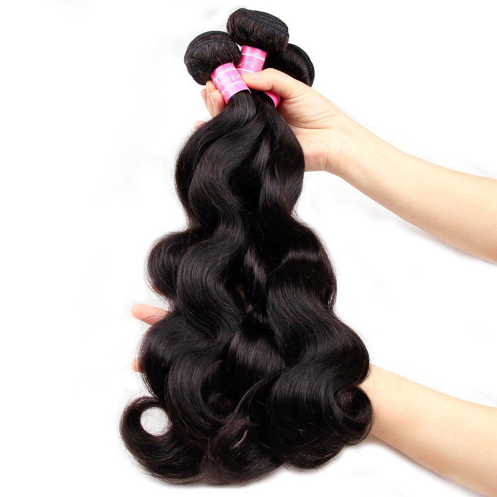 Amazon Vrvogue Brazilian Body Wave 3 Bundles 100 Human Hair