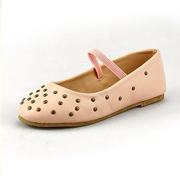 a1cb3f9ecc8ba Amazon.com: Girl's Stylish Flat Shoes with Studs Elastic Strap 3 ...