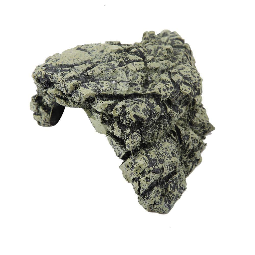 Medio Sheens Reptil Resina Cueva Peque/ños lagartos Plataforma para Tomar el Sol de la Tortuga Escondite H/ábitat Refugio para Acuario Terrario Decoraci/ón Ornamento