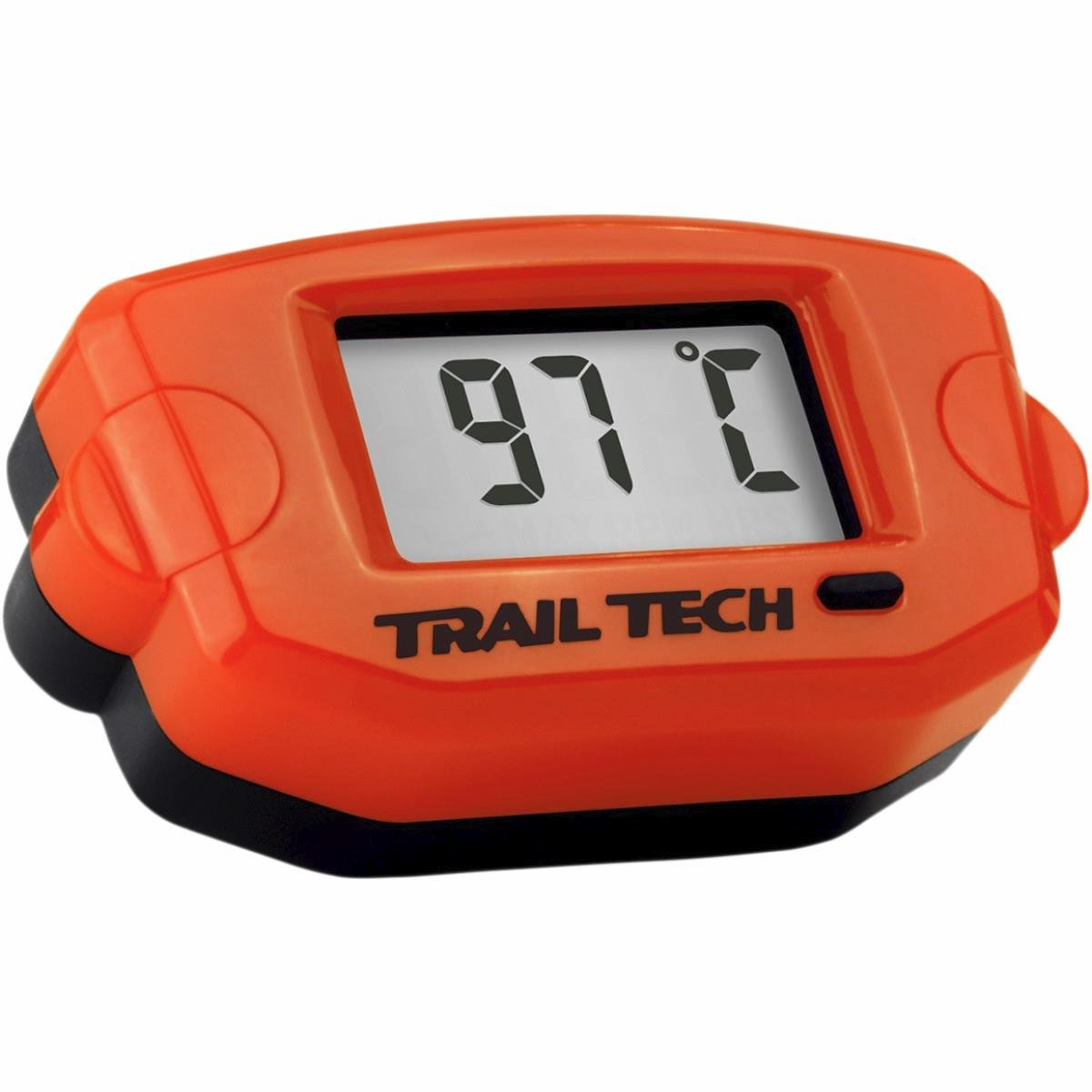Trail Tech Surface Mount Universal Temperature Meter w/ Fin Sensor - 7mm - Orange 743EF4