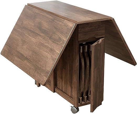 DIOE Mesa plegable de madera maciza, mesa plegable de cocina o ...