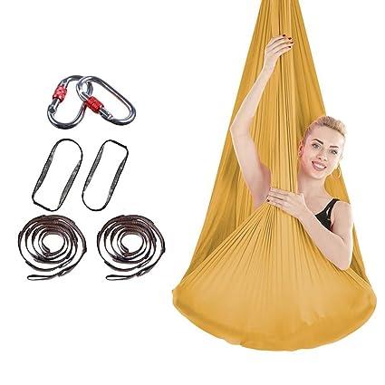 Amazon.com: Jx Air Stretch Yoga Hammock Indoor Silk Anti ...