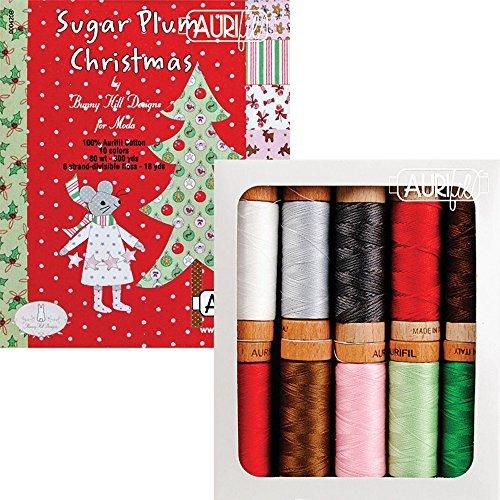 Bunny Hill Designs Sugar Plum Christmas Aurifil Thread Kit 10 Small Spools AS8030SPC10 by Aurifil