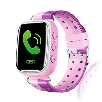 Tounique Reloj inteligente para niños con 2 vías de llamada, rastreador GPS, juegos, antipérdida, SOS, pulsera para iPhone, Android, Smartphone Pink,Type 5: ...