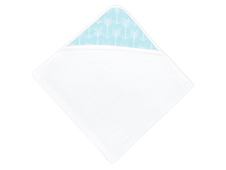 75 x 75 cm Kapuzen-Badetuch f/ür Babys und Kleinkinder aus Baumwolle KraftKids Kapuzenhandtuch Chevron grau