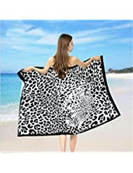 TraveT Sexy Leopard Print Beach Towels Bath Swimming Pool Yoga Pilates Picnic Blanket Maximum Softness and Absorbency