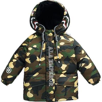 Face Dream Boys Girls Lightweight Camouflage Down Jacket Kids Winter Puffer Hoodie Coat