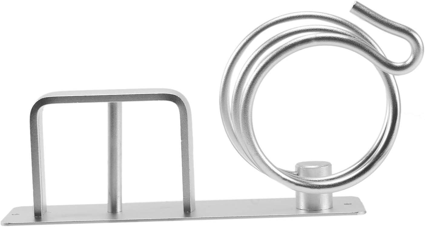 BOKIE Aluminum Wall Mounted Hair Dryer Rack Organizer Hair Dryer Straightener Holder Set Bathroom Shelf for Washroom Supplies Silver