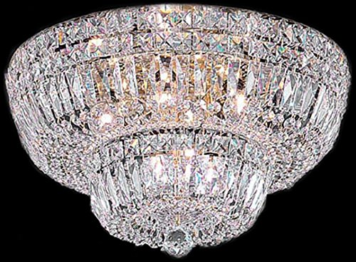 Classic Lighting 53418 G CP Empress, Crystal, Flush/Semi-Flush, 18