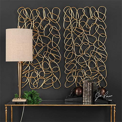 (Uttermost 2-Pc Wall Art Set in Gold)