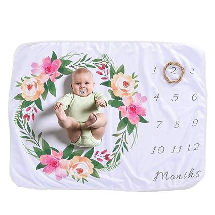 Decdeal - Manta para recién Nacido, diseño de Lunares, para niña y niño