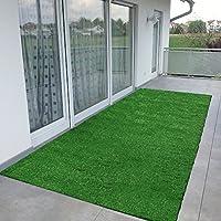 Ottomanson R350-2X5 Evergreen Collection Indoor/Outdoor Turf Solid Design Runner, 20x59
