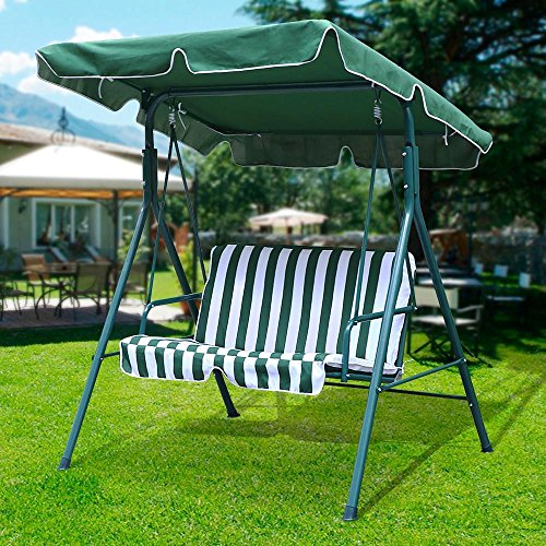 Yaheetech Green Patio Outdoor Swing Canopy With Weather