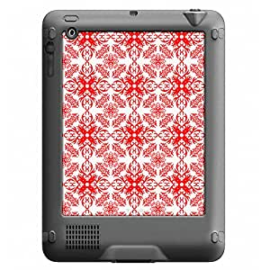 Skin Decal for LifeProof Nuud Apple iPad Gen 2/3/4 Case - Victorian Astonishing Red on White