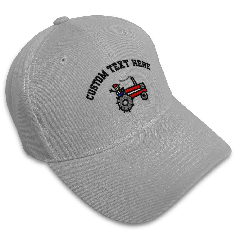 Custom Baseball Cap Farmer Riding Tractor Embroidery Dad Hats for Men /& Women