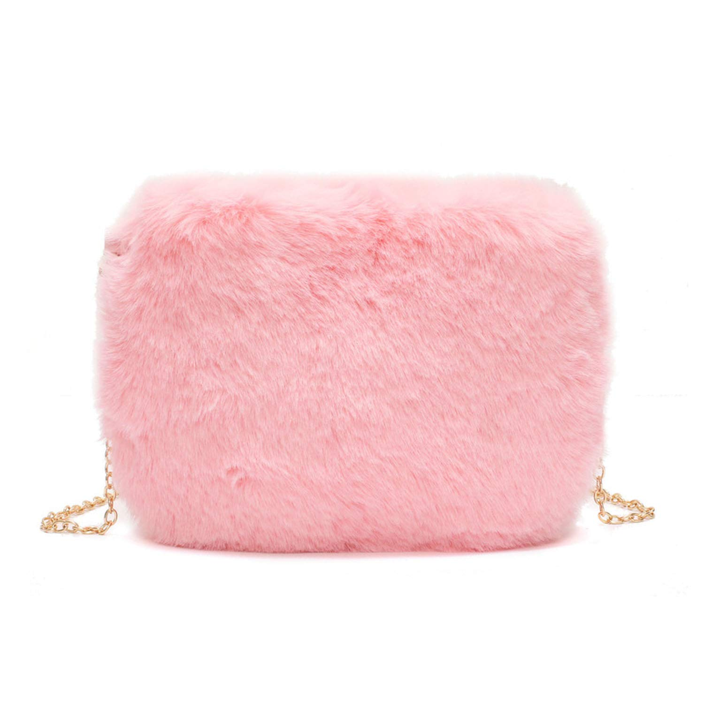9a40812029ee Winter Fashion Fur 2019 Women Crossbody Bag Chain Small Shoulder Bag Casual  Female Messenger Bags Retro Velvet Lady Clutch Bag
