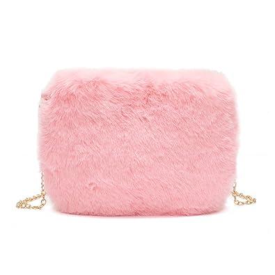 10355283256c Winter Fashion Fur 2019 Women Crossbody Bag Chain Small Shoulder Bag Casual  Female Messenger Bags Retro