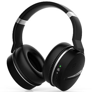 Mighty Rock E8D Auriculares Bluetooth Inalámbricos con Cancelación de Ruido, Micrófono Hi-Fi Deep Bass, Cómodo Protein Earpads, 20 Horas Playtime Para ...