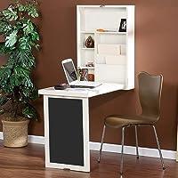 LUYS Escritorio de la computadora montado en la pared del hogar - Mesa plegable de pared Soporte de almacenamiento de la exhibición del escritorio de