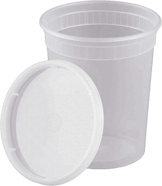 Amazon.com: 32oz Food Storage Deli Containers with Lids - 1 Quart Soup  Freezer Meal Prep Containers - 25 Pack: Kitchen & Dining