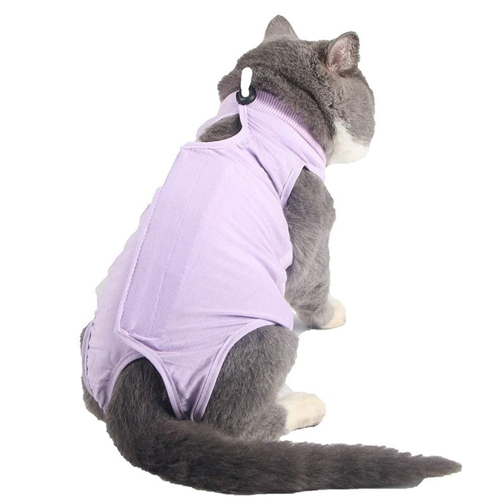 Ice con Pet Recovery Suit, Professional Pet Recovery Suit Protective Pet Coat After Surgery E-Collar Alternative Prevent Cat Lick Wound for Cats for Abdominal Wounds Skin Diseases Surgery,Powder,S by Ice con
