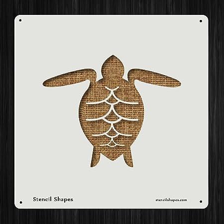 Sea Turtle 3 Reusable Mylar Stencil Art Supplies