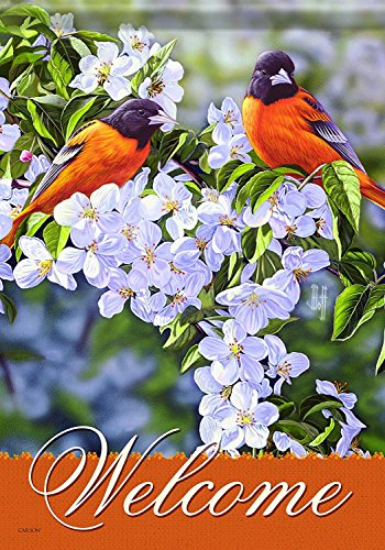 Aric Home Accents Garden Flag, Orioles/Orchard
