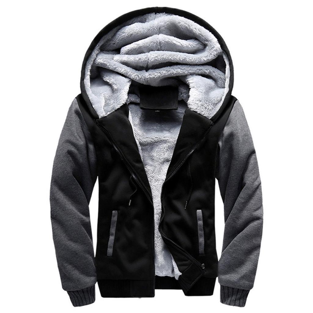 ホットセール。todaiesメンズM 5 X Lフード冬暖かいフリースジッパーセータージャケットアウターコート XL ブラック B077XC38FW XL|ブラック ブラック XL
