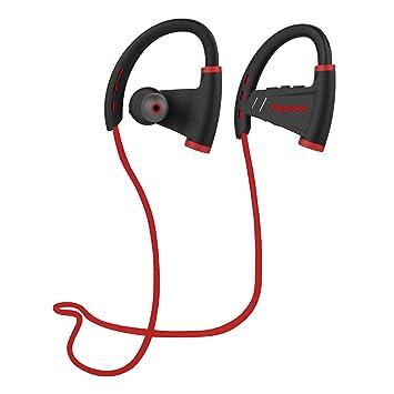Auriculares Kelodo S9 Bluetooth sin cables, deportivos V4.1 IPX5 , resistentes al sudor de los oídos, auriculares estéreo con cascos con cancelación de ...