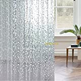 Wimaha Mildew-Free EVA 15 Gauge Shower Curtain 3D Stone Shower Curtain, Long 72 x 72, (72W x 72L, Clear)