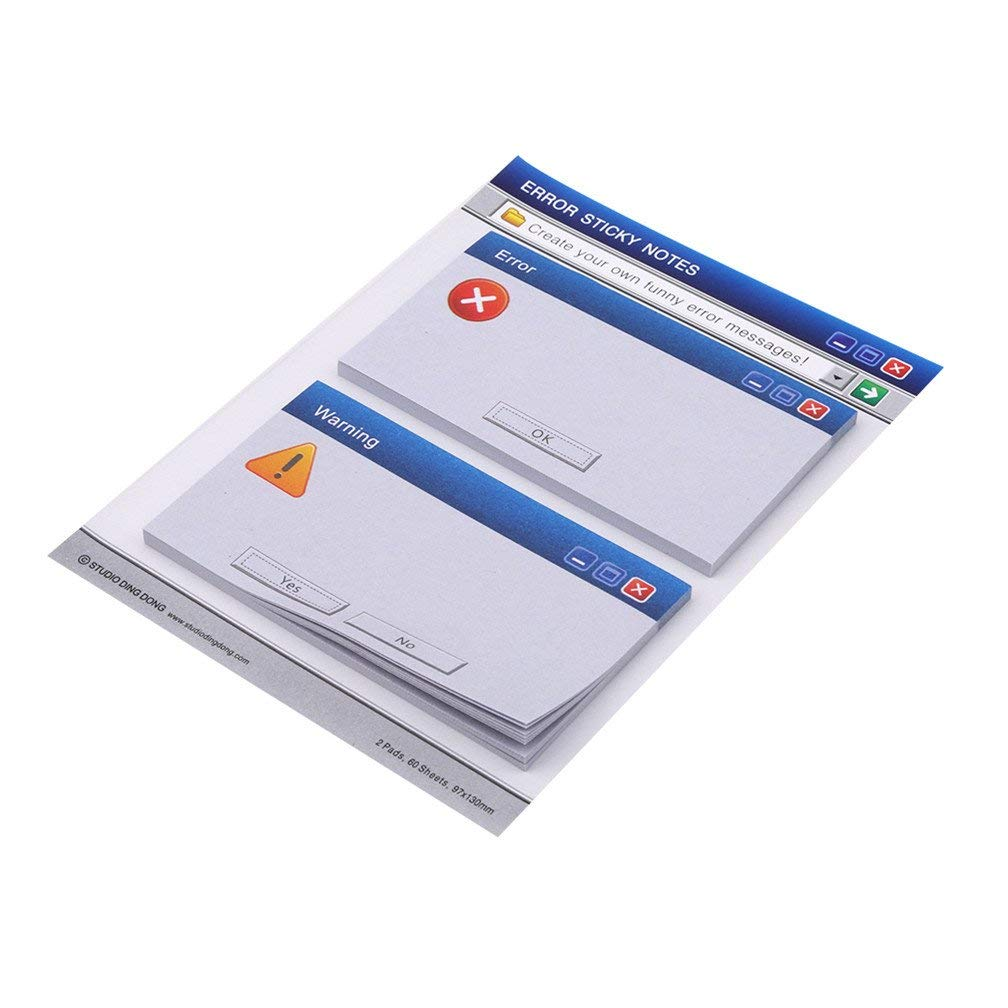 Tcplyn Premium Quality Computer System Shape Memo Pad Paper Notes Diary Stationary Set Stickers Office Stationery Creative Memo Error Mark