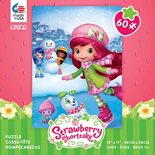 Ceaco Strawberry Shortcake Ice Skating: 60 piece jigsaw puzzle