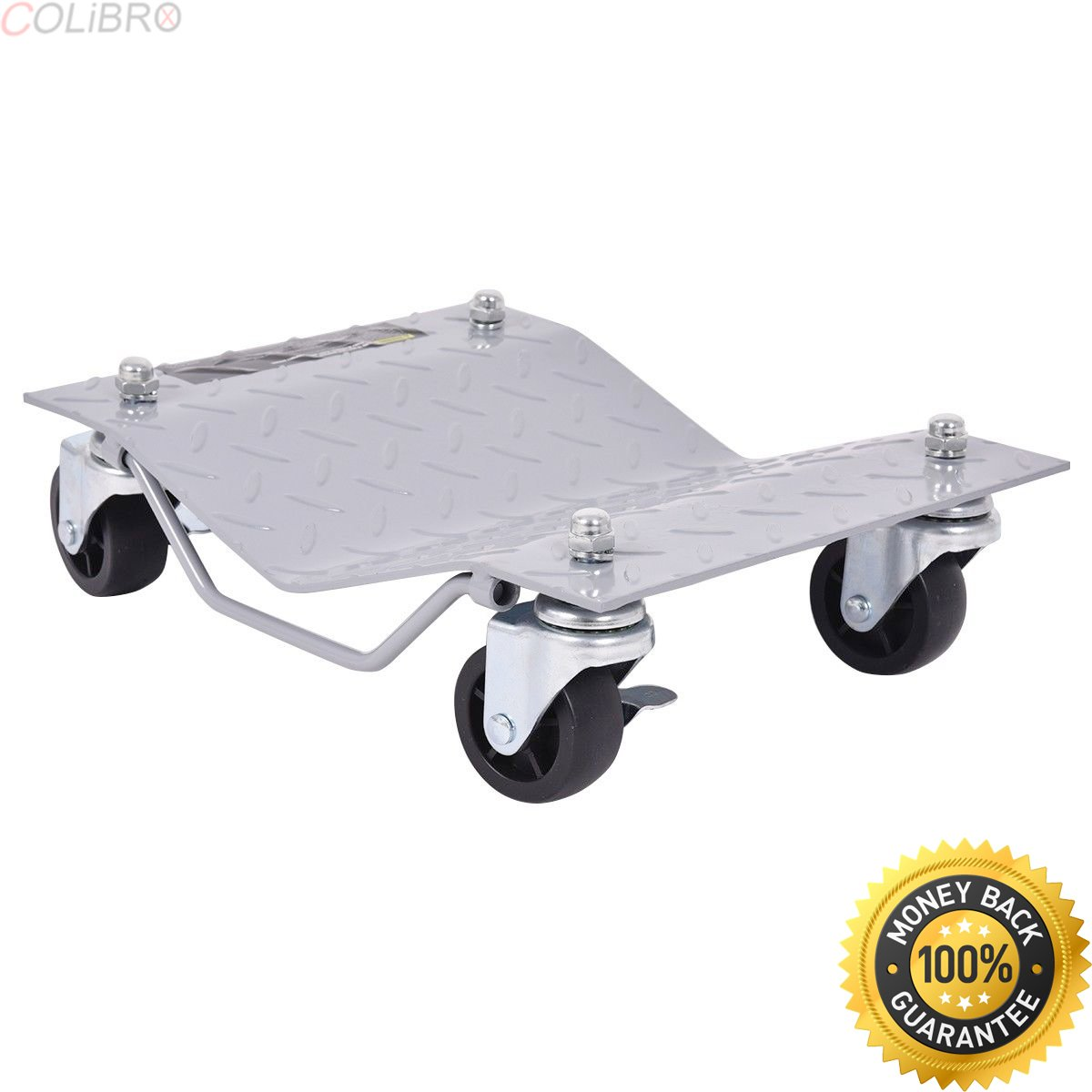 COLIBROX--4 X 3'' Set Tire Wheel Dollies Dolly Vehicle Car Auto Repair Moving Diamond Gray. wheel and tire packages for trucks. lifted truck wheel and tire packages. rims for sale cheap.
