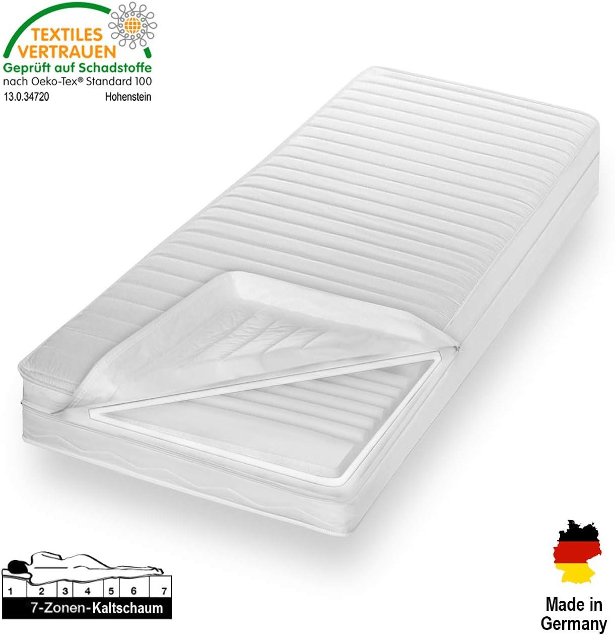 Traumland Orthop/ädische 7-Zonen Kaltschaummatratze Microfaserbezug Waschbar Matratze H/ärtegrad H2 /& H3 /ÖkoTex Rollmatratze 140 x 200 x 16 cm, H2