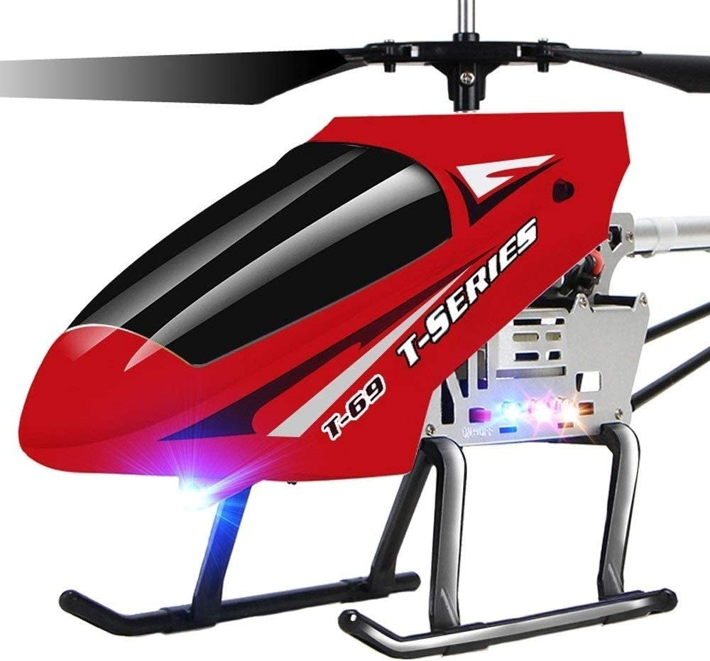 SSBH 3.5 Canales 2.4GHZ Gyro RC LED In/Outdoor Radiocontrolado Adultos Niños Flying Holiday Birthday Toys Regalos Super Large Wireless Remote Helicopter Regalos for Adolescentes Niños Niñas