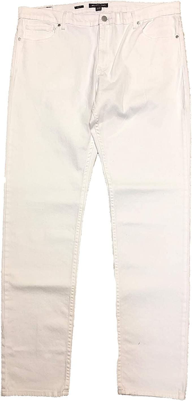 Spirio Mens Drawstring Elastic Waist Plain Stylish Straight Long Pants