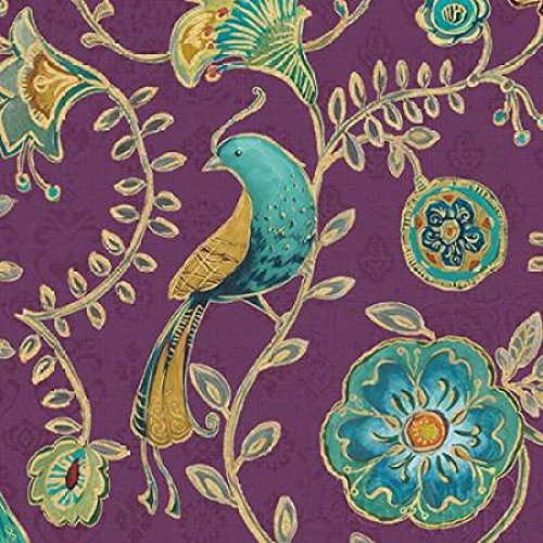 Bohemian Wings VIII Aubergine Poster Print by Daphne Brissonnet 24 x 24